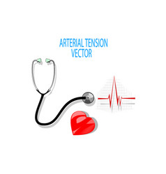 Ecgstethoscope and heart vector