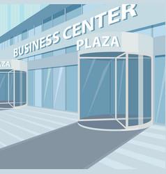 Exterior of facade of glass office business center vector