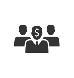 Financial expert icon vector
