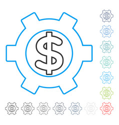 financial settings contour icon vector image