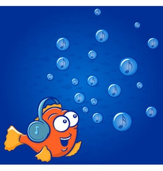 Fish Music vector image