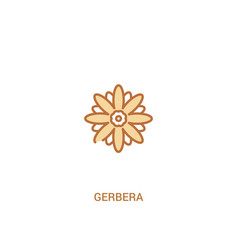 Gerbera concept 2 colored icon simple line vector