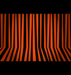 halloween background striped room in orange and vector image