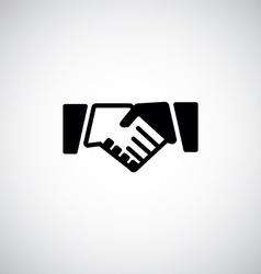 Handshake icon vector