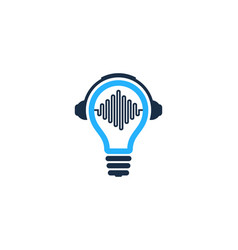 Headphone idea logo icon design vector