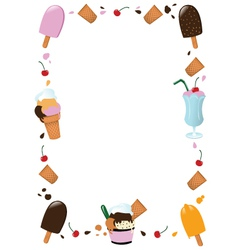 Ice Cream Frame vector image