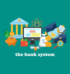 icons for the banking system vector image