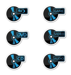 Icons optical disc vector image