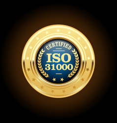 iso 31000 standard medal - risk management vector image
