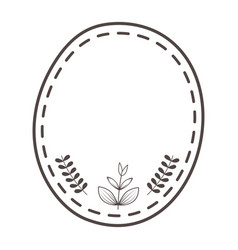 Isolated seal stamp with leaf design vector
