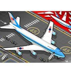 Isometric Air Force One in Front View vector