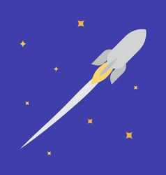 Jet rocket in open space vector
