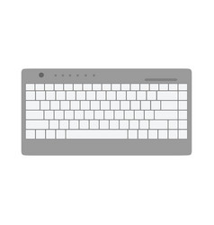 Keyboard top view communication equipment device vector
