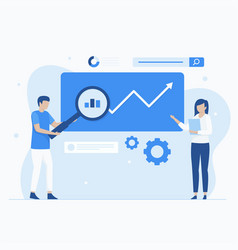 Keyword research concept vector