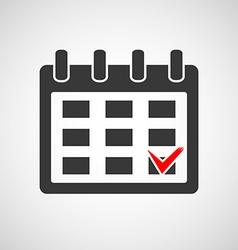Logo calendar with a check mark vector
