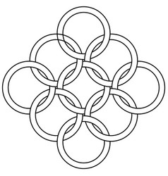 Logo pattern interlocking rings chainmail vector