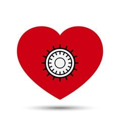 Love heart safe security concept vector