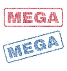 Mega textile stamps vector