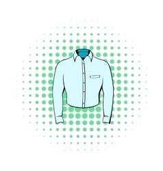 Mens shirt icon comics style vector image