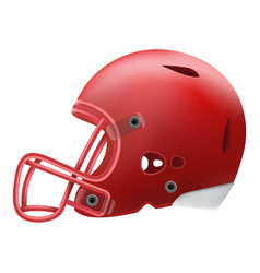modern red american football helmet side view vector image