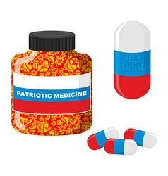National Patriotic medicine in Russia Pill with vector image