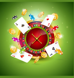 On a casino theme with vector