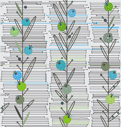 openwork vertical plants on a background of vector image