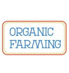 Organic farming stamp on white background vector