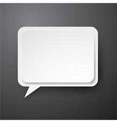 Paper white speech bubble vector image