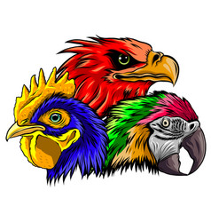 Parrot head logo icon art vector