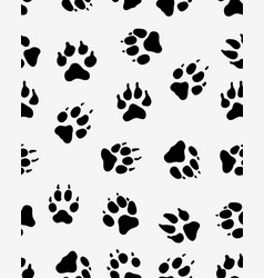 Prints of dog paw vector