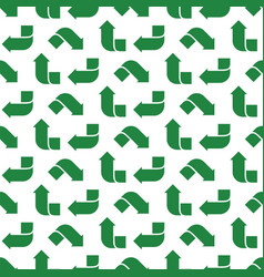 recycle green symbol pattern seamless flat vector image