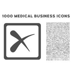Reject Icon with 1000 Medical Business Pictograms vector image