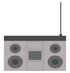 retro tape recorder for audio cassettes vector image