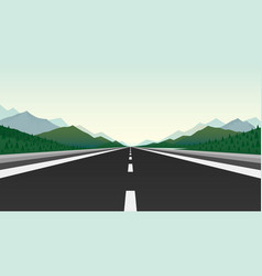 road trip infinity landscape travel pave vector image