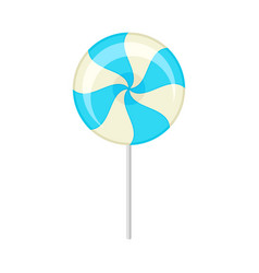 Round bicolor lollipop on a vector