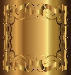 Royal Vintage Frame Gold Background vector image