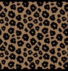 Safari pattern background jaguar animal skin vector