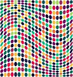 Seamless geometric pattern Vertical wavy dots vector image