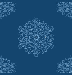 seamless of snowflakes on blue background vector image