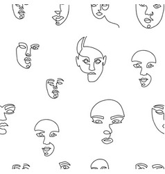 seamless pattern with surreal abstract female vector image