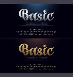 set elegant gold and silver colored metal vector image