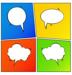 Set of comic speech bubble cartoon vector
