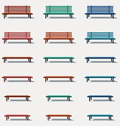 Set of different types benches vector