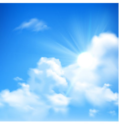 Sun And Clouds Background vector