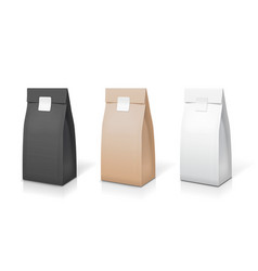 tea coffee paper packaging collection vector image