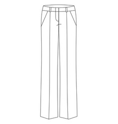 Technical skketch classic womens trousers vector