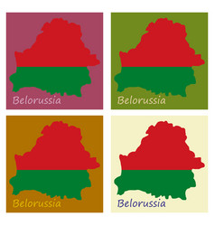 The detailed map of belarus with national flag vector