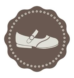 Vintage kids shoe label vector
