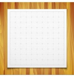 white isolated square grid with shadow isolated vector image